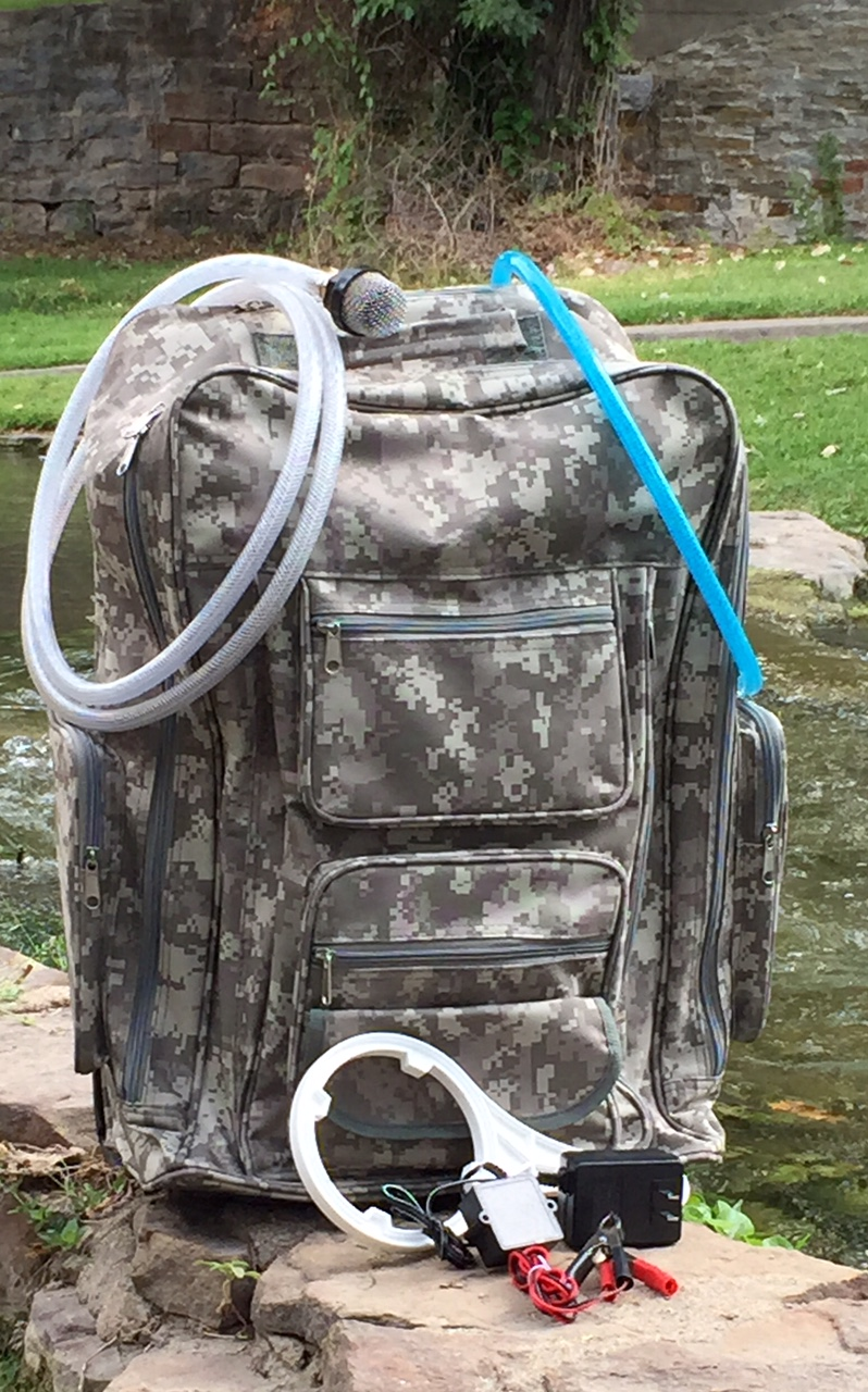 Water Distillation Systems Model ~ Solar hydro water purification system backpack model
